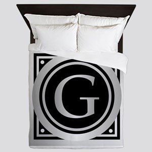 Deco Monogram G Queen Duvet