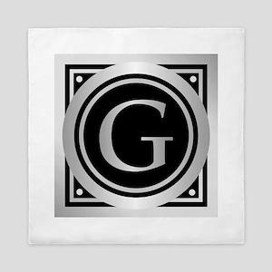 Deco Monogram G Queen Duvet