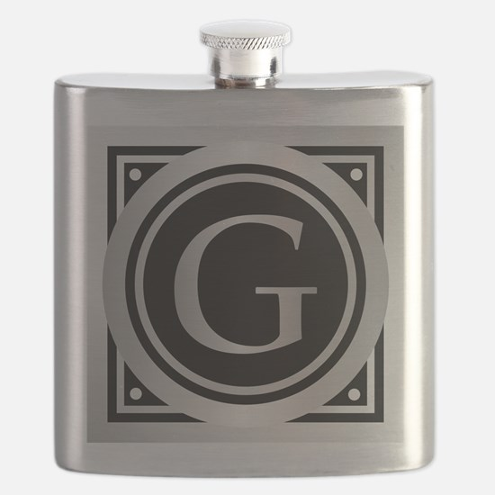 Deco Monogram G Flask
