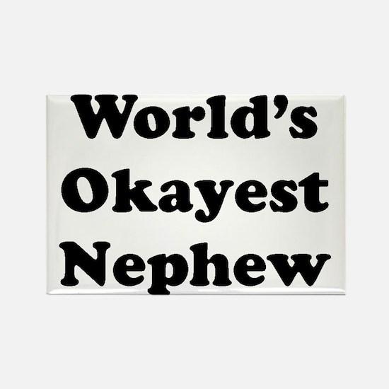 World's Okayest Nephew Magnets