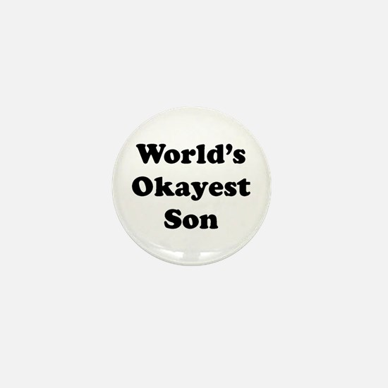 World's Okayest Son Mini Button