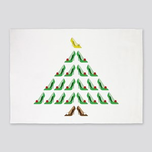 Christmas Shoe Tree 5'x7'Area Rug