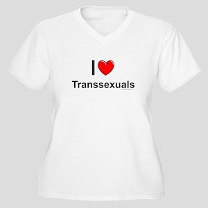 Transsexuals Women's Plus Size V-Neck T-Shirt