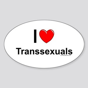 Transsexuals Sticker (Oval)