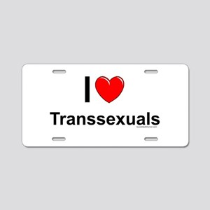 Transsexuals Aluminum License Plate