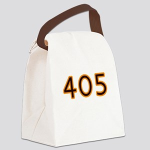 405 orange Canvas Lunch Bag