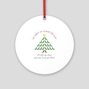 Around The Tree Ornament (Round)