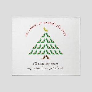 Around The Tree Throw Blanket