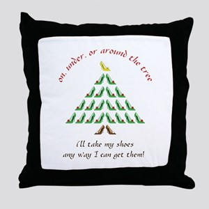 Around The Tree Throw Pillow