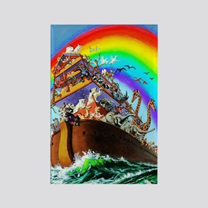 Noah's Ark Drawing Rectangle Magnet Magnets