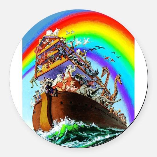 Noah's Ark drawing Round Car Magnet