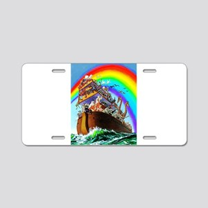 Noah's Ark drawing Aluminum License Plate