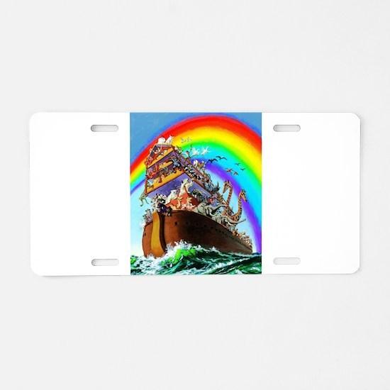 Noah's Ark drawing Aluminum License Plate