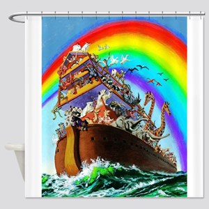 Noah's Ark Drawing Shower Curtain