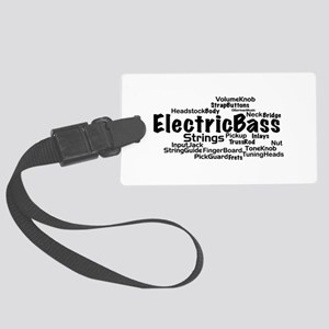 Electric Bass Word Cloud Luggage Tag