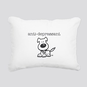 Anti Depressant Rectangular Canvas Pillow