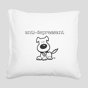 Anti Depressant Square Canvas Pillow