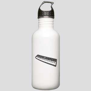 Keyboard Shaped Word Cloud Water Bottle