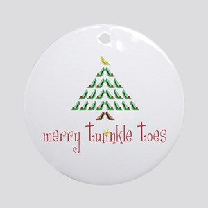 Merry Twinkle Toes Ornament (Round)