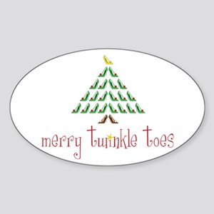 Merry Twinkle Toes Sticker