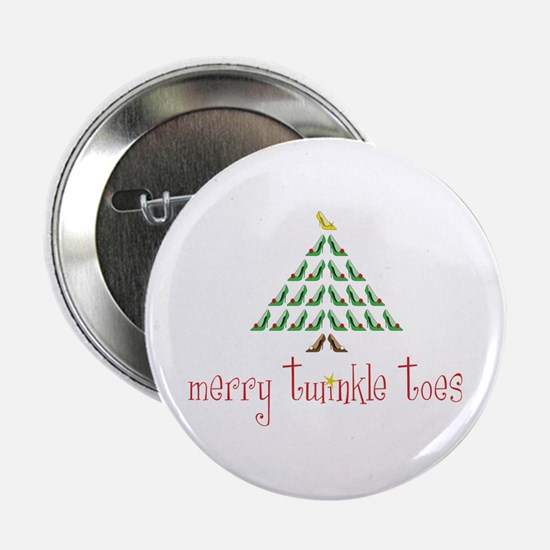 """Merry Twinkle Toes 2.25"""" Button"""