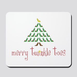 Merry Twinkle Toes Mousepad