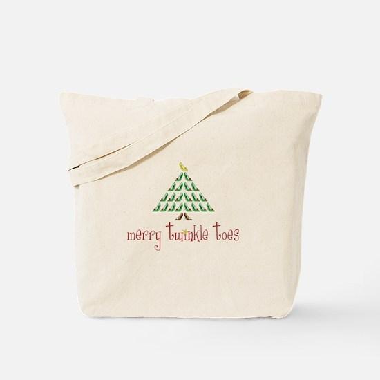 Merry Twinkle Toes Tote Bag