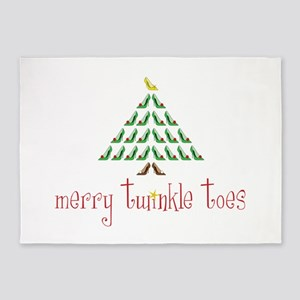 Merry Twinkle Toes 5'x7'Area Rug