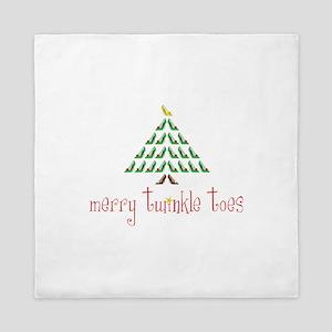 Merry Twinkle Toes Queen Duvet