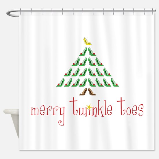 Merry Twinkle Toes Shower Curtain