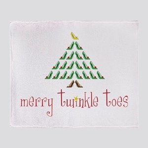 Merry Twinkle Toes Throw Blanket