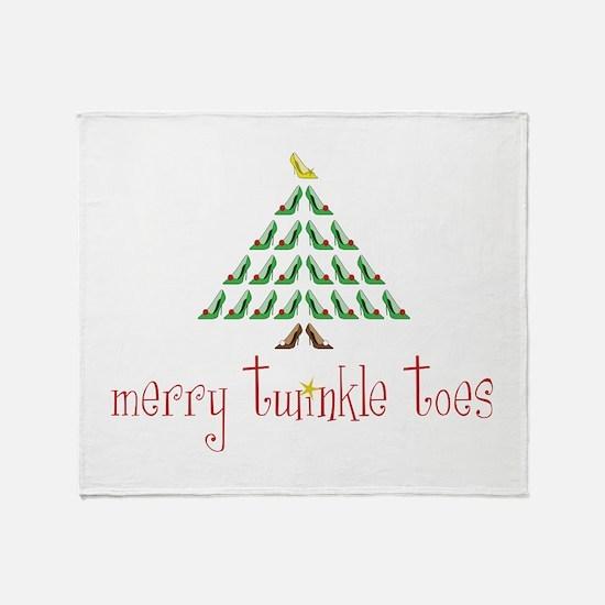 Merry Twinkle Toes Throw Blanket