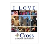 I Love Cross Postcards (package Of 8)