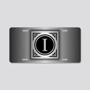 Deco Monogram I Aluminum License Plate