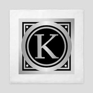 Deco Monogram K Queen Duvet
