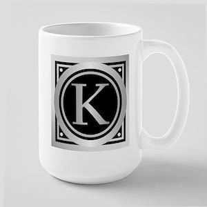 Deco Monogram K Mugs