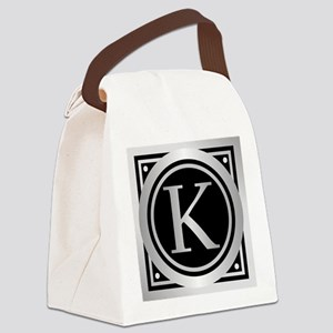 Deco Monogram K Canvas Lunch Bag