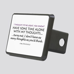 'Alone Time' Rectangular Hitch Cover