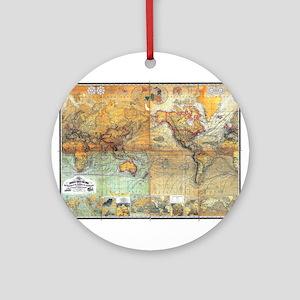 Nautical World Ornament (Round)