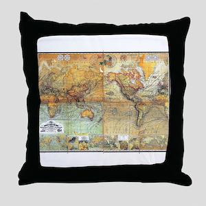 Nautical World Throw Pillow