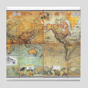 Nautical World Tile Coaster