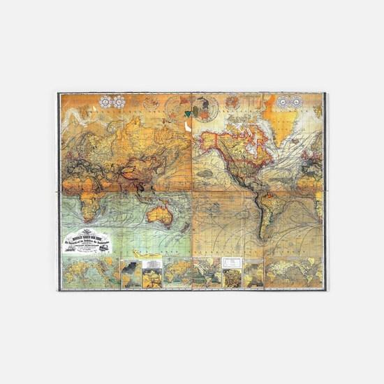 Nautical World 5'x7'Area Rug