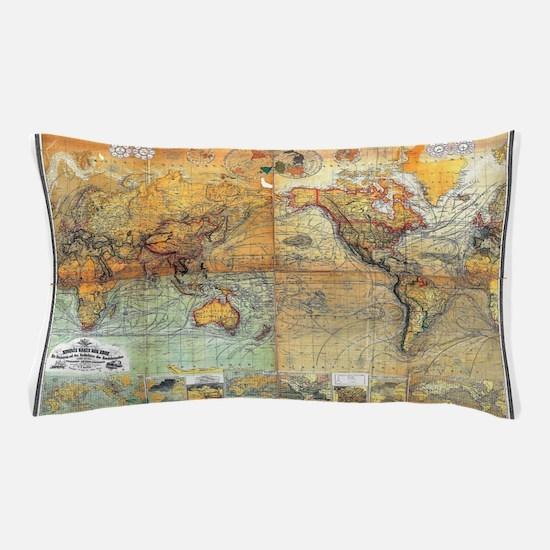 Nautical World Pillow Case