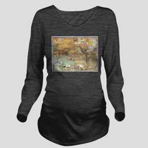 Nautical World Long Sleeve Maternity T-Shirt