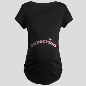 Expecting Girl Maternity Dark T-Shirt