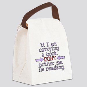 Im reading. Canvas Lunch Bag