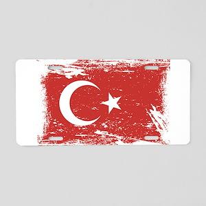 Grunge Turkey Flag Aluminum License Plate