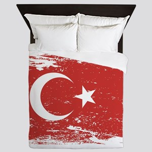 Grunge Turkey Flag Queen Duvet