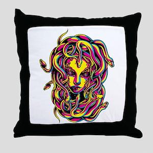 CMYK Medusa Throw Pillow