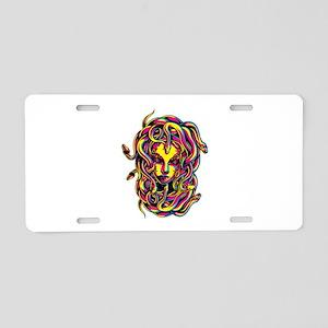 CMYK Medusa Aluminum License Plate